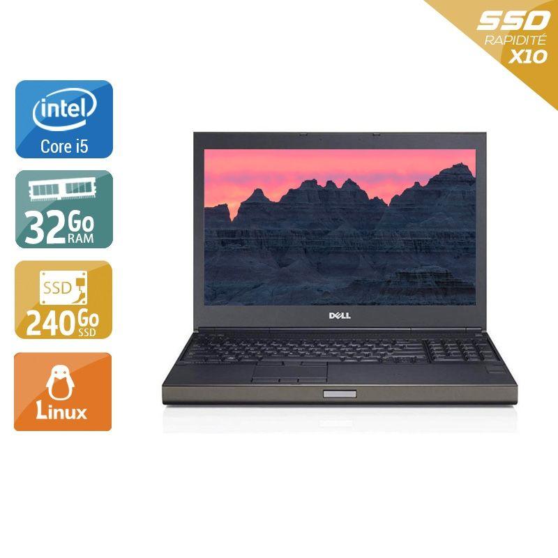 Dell Précision M4800 i5 32Go RAM 240Go SSD Linux