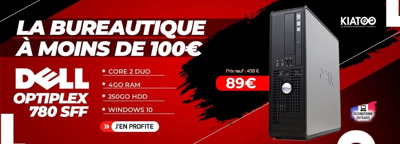 Dell Optiplex 780 SFF Core 2 Duo 4Go RAM 250Go HDD Windows 10 - Reconditionné