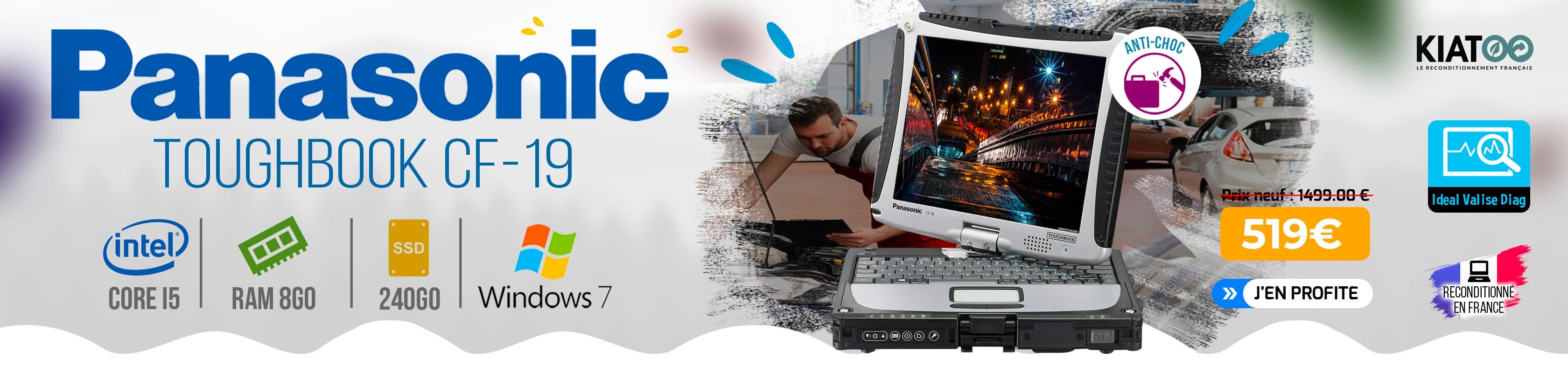 Panasonic ToughBook CF 19 i5 8Go RAM 240Go SSD Windows 7